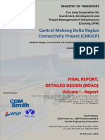 Final Report of Detailed Design, Central Mekong Delta Region Connectivity Project (CMDCP)
