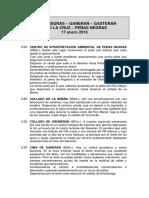 20160117 Peñas Negras-Pico La Cruz-Peñas Negras - Recorrido
