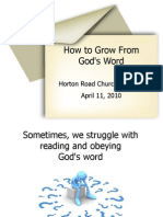How to Grow Spiritually From God's Word
