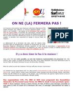 2016 01 25 Expression Intersyndicale Fermeture Des Agences NPDE