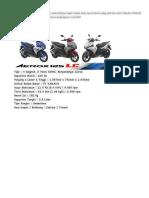 Spec AERoX125cc