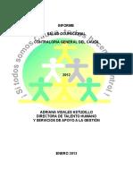 Informe de Salud Ocupacional 2012