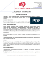 Employment Opportunity Assistant Coordinator