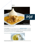 Receta de Ají de Gallina Peruano