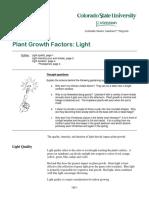 Plant Growth Factors Light