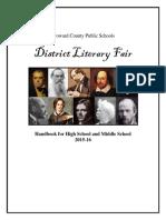 literary fair handbook 2015-2016 2