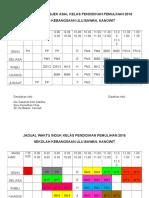 Jadual Waktu Induk Kelas Pendidikan Pemulihan 12 Jan 2016