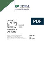 Contexto Actual de La Empresa Familiar y Las Pyme