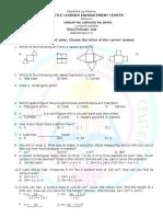 Math 6 3rd Grading
