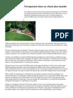 Conseils pour l'aménagement dans un climat plus humide