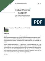 Term Paper on Square Pharma Ltd.