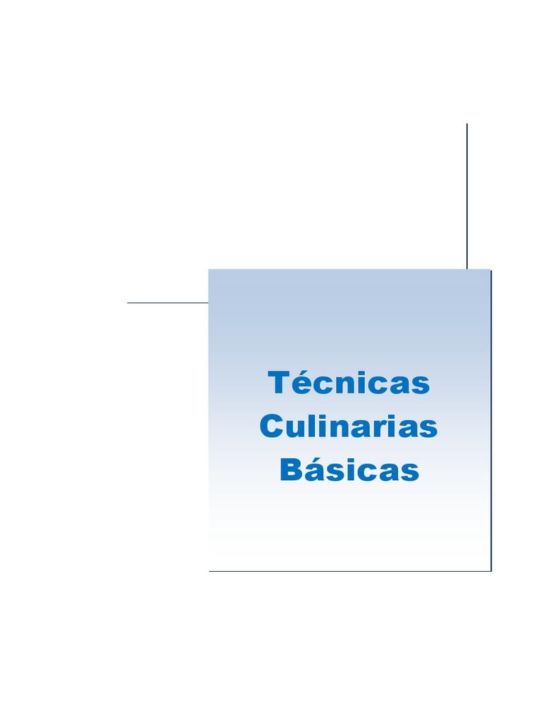 tecnicas culinarias pdf