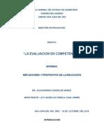 Ensayo La Evaluación en Competencias (Autoguardado)