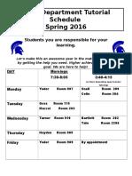 math tutoring spring 2016