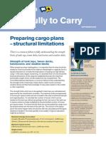 Preparing Cargo Plans