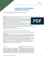Calidad de las tesis de maestría en temas de salud pública