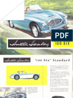 Austin Healey 100 Six 2+2 1958 brochure