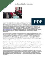 Postoperatorio De La Operación De Cataratas