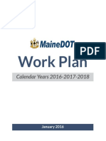 Maine DOT Work Plan — 2016-2018
