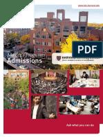 HKS admissions Brochure