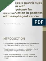 Laparoscopic Gastric Tube Formation With Pyloromyotomy for Reconstruction