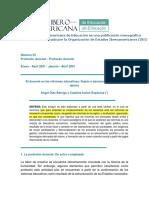 El Docente en Las Reformas Educativas Sujeto o Ejecutor de Proyectos Ajenos