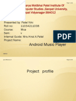 Android Music Player by Patel Niki
