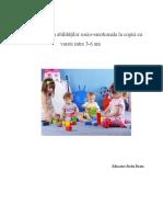 Dezvoltarea Abilităţilor Socio-emotionala La Copiii Cu Varste Intre 3-6 Ani