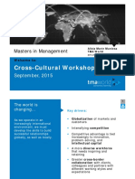 Cross Cultural work