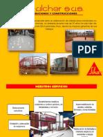 Brochure de Mantenimiento industrial con productos SIKA