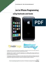 iPhone Programming Using Dashcode and Xcode
