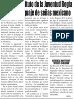 21-01-16 Organiza Instituto de la Juventud Regia curso de lenguaje de señas mexicano