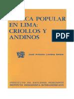 Criollos o Andinos