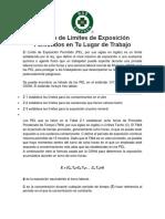PEL OSHA Calculo de Limites de Exposicion Permitidos en Tu Lugar de Trabajo