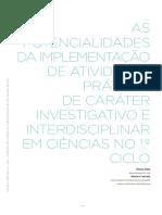 As potencialidades da implementação de atividades práticas de caráter investigativo e interdisciplinar em ciências no 1.º ciclo