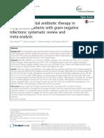 Infecciones gramnegativos y terapia antibioticainicial