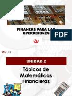 FPO Unidad 2 - Tópicos de Matemáticas Financieras