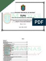 TUPA 2013 Aprobado 09.05.2013