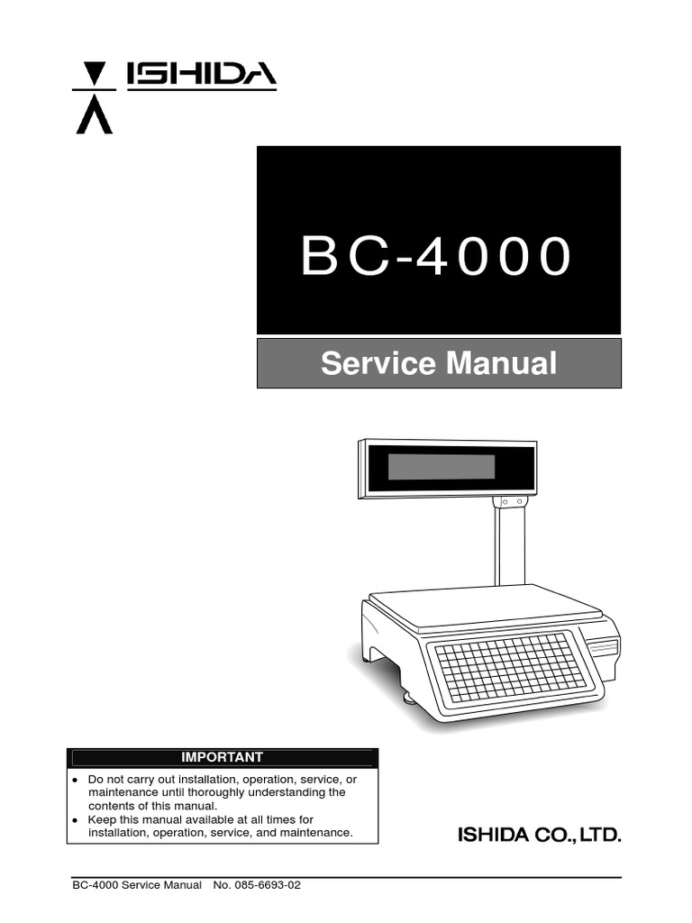 BC-4000 Service Manual | Power Supply | Computing And Information Technology