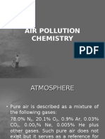 Air Pollution Chemistry introduction