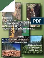 PROYECTO DE CREACION DEL PROGRAMA ACADEMICO DE INGENIERIA EN AGROFORESTERIA. TOMO II