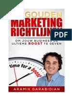50 gouden marketing richtlijnen