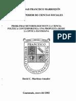 Problemas Metodológicos en La Ciencia Politica Contemporanea, Desde Una Optica Hayekiana