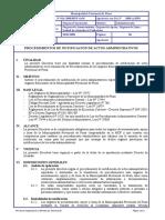 016-2008 (Procedimiento de Notificacion de Actos Administrativos)