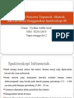 Karakterisasi Senyawa Terpenoid, Alkaloid Dan Flavonoid Menggunakan Spektroskopi IR