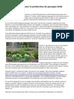 « Conseils utiles pour la production de paysages belle maison! »