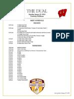 Minnesota/Wisconsin Dual Schedule
