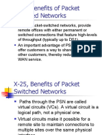 Benefits of Packet Switched Networks