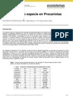 el concepto de especie en procariotas