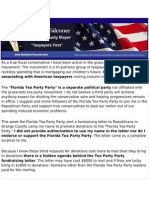 Falconer Press Release Re Tea Party